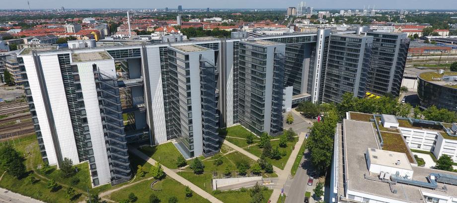 Ansicht einer Penthouse Immobilie in München